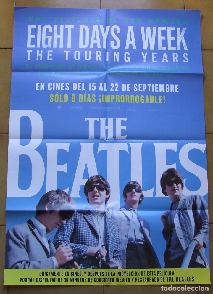 BEATLES POSTER CARTEL PELICULA EIGHT DAYS A WEEK ESPAÑOL 70 X 100 (Cine - Posters y Carteles - Documentales)