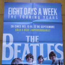 Cine: BEATLES POSTER CARTEL PELICULA EIGHT DAYS A WEEK ESPAÑOL 70 X 100. Lote 75573327