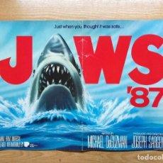 Cine: TIBURON CARTEL 55X33 CM.JAWS 87. CARTEL DE LA PELICULA.. Lote 75589739