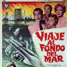 Cine: VIAJE AL FONDO DEL MAR. PETER LORRE. CARTEL ORIGINAL SOLIGÓ1961. 100X70CM. Lote 75708655