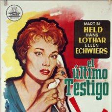 Cine: EL ÚLTIMO TESTIGO. CARTEL ORIGINAL 1963. 100X70CM. Lote 75708971
