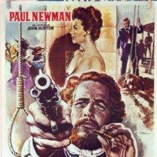 Cine: EL JUEZ DE LA HORCA. JOHN HUSTON. PAUL NEWMAN Y AVA GARDNER. CARTEL ORIGINAL 1972. 100X70. Lote 75710119