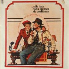 Cine: EL GOLPE. PAUL NEWMAN Y ROBERT REDFORD. CARTEL ORIGINAL 1974. 100X70. Lote 75710999