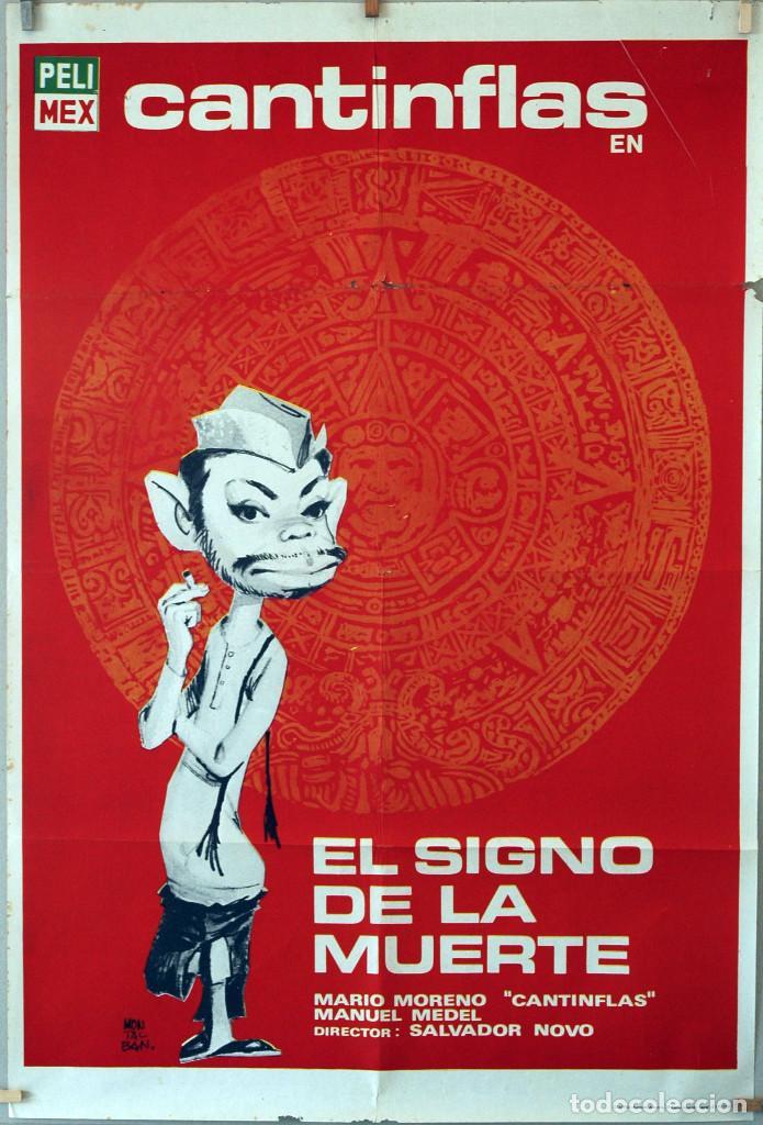 EL SIGNO DE LA MUERTE. CANTINFLAS. CARTEL ORIGINAL 1969. 100X70 (Cine - Posters y Carteles - Comedia)