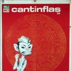 Cine: EL SIGNO DE LA MUERTE. CANTINFLAS. CARTEL ORIGINAL 1969. 100X70. Lote 75712355