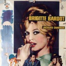 Cine: BABETTE SE VA A LA GUERRA. BRIGITTE BARDOT. CARTEL ORIGINAL 1959. 70X100. Lote 75783711