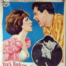 Cine: HABITACIÓN PARA DOS. ROCK HUDSON-GINA LOLLOBRIGIDA. CARTEL ORIGINAL 1965 70X100. Lote 75786367