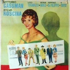 Cine: LA LETRA. VITTORIO GASSMAN-UGO TOGNAZZI. CARTEL ORIGINAL 1964. 70X100. Lote 75787767