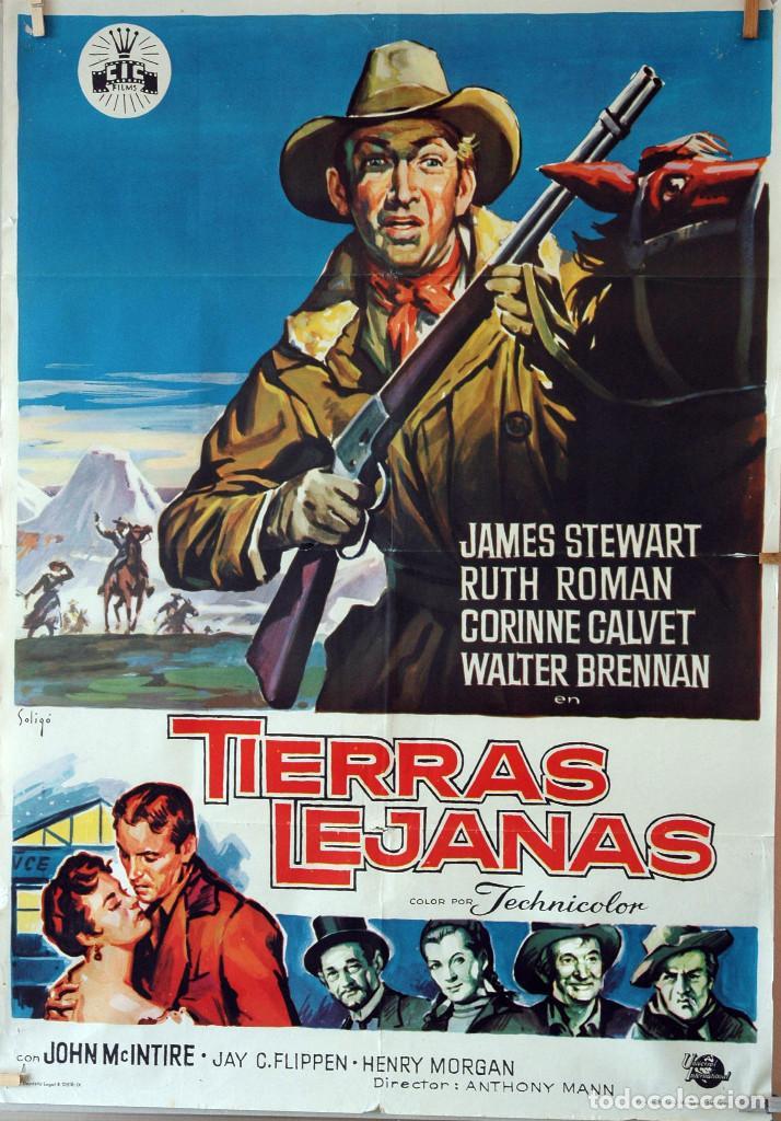 TIERRAS LEJANAS. JAMES STEWART. CARTEL ORIGINAL SOLIGÓ. 70X100 (Cine - Posters y Carteles - Westerns)