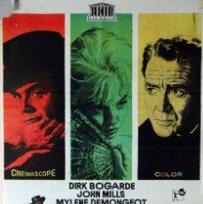 Cine: EL DEMONIO, LA CARNE Y EL PERDÓN. DIRK BOGARDE-JOHN MILLS. CARTEL ORIGINAL 1961. 70X100. Lote 75847971