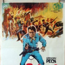 Cine: SÓLO EL VALIENTE. GREGORY PECK. CARTEL ORIGINAL 1963. 70X100. Lote 75848923