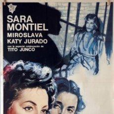 Cine: CÁRCEL DE MUJERES. SARA MONTIEL-KATY JURADO. CARTEL ORIGINAL 1967. 70X100. Lote 75849059