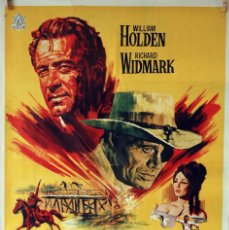 Cine: ALVAREZ KELLY. WILLIAM HOLDEN-RICHARD WIDMARK. CARTEL ORIGINAL 1966. 70X100. Lote 75849219