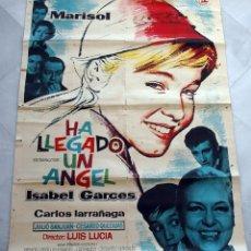 Cine: HA LLEGADO UN ÁNGEL. MARISOL-LUIS LUCIA. CARTEL ORIGINAL 2 HOJAS 1961. 100X140CM. Lote 75850031