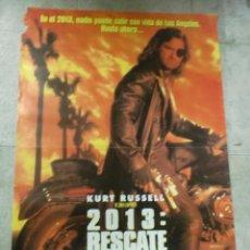 Cine: CARTEL DE CINE ORIGINAL. 2013: RESCATE EN L.A. 95 X 67 CM. Lote 75947883