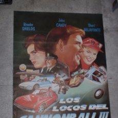 Cine: CARTEL ORIGINAL DE CINE. LOS LOCOS DEL CANNONBALL III. 95 X 67 CM. Lote 75947967