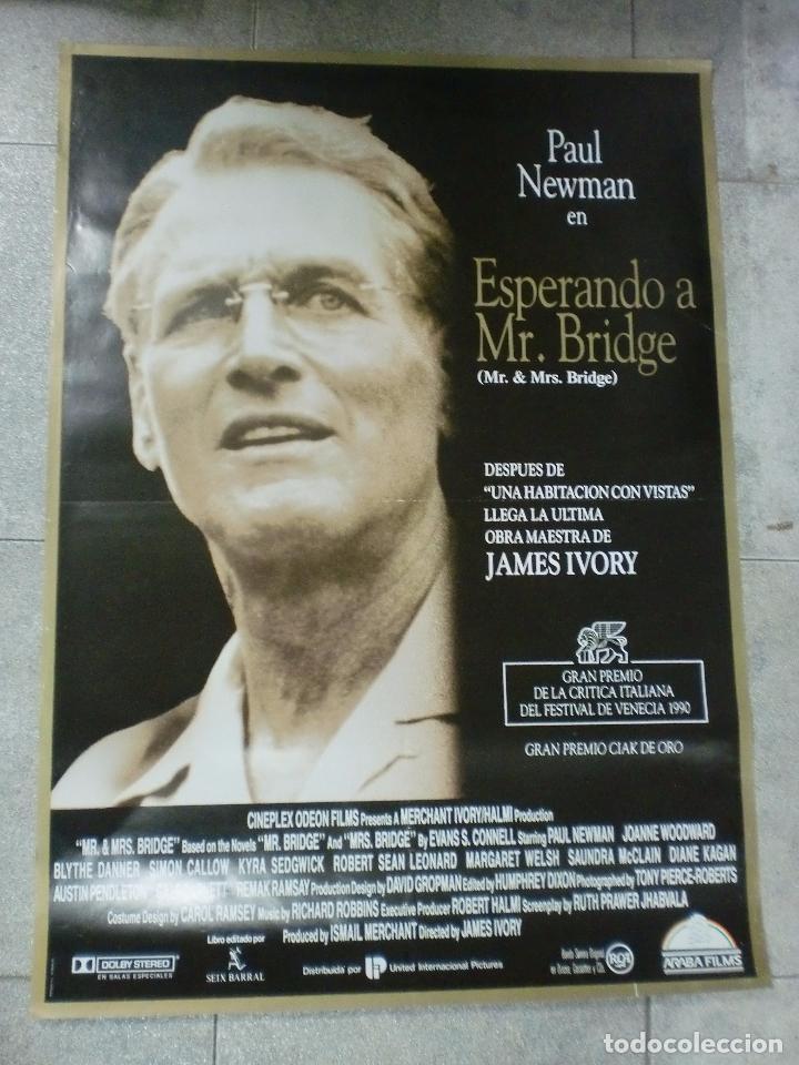 CARTEL ORIGINAL DE CINE. ESPERANDO A MR. BRIDGE. 95 X 67 CM (Cine- Posters y Carteles - Drama)
