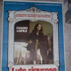Cine: CARTEL DE CINE ORIGINAL. LUTO RIGUROSO. 99 X 70 CM.. Lote 75952763