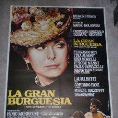 Cine: CARTEL DE CINE ORIGINAL. LA GRAN BURGUESÍA. 99 X 70 CM.. Lote 75952823
