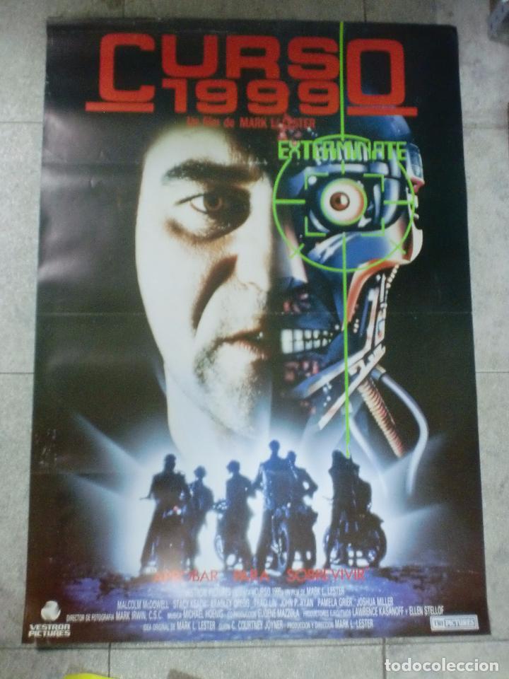 CARTEL DE CINE ORIGINAL. CURSO 1990. 99 X 70 CM (Cine - Posters y Carteles - Ciencia Ficción)