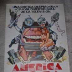 Cine: CARTEL DE CINE ORIGINAL. AMERICA LOCA. 99 X 70 CM.. Lote 75981735