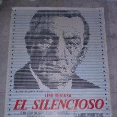 Cine: CARTEL DE CINE ORIGINAL. EL SILENCIOSO. 99 X 70 CM.. Lote 75982119