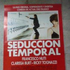 Cine: CARTEL DE CINE ORIGINAL. SEDUCCIÓN TEMPORAL. 99 X 70 CM. Lote 76063431