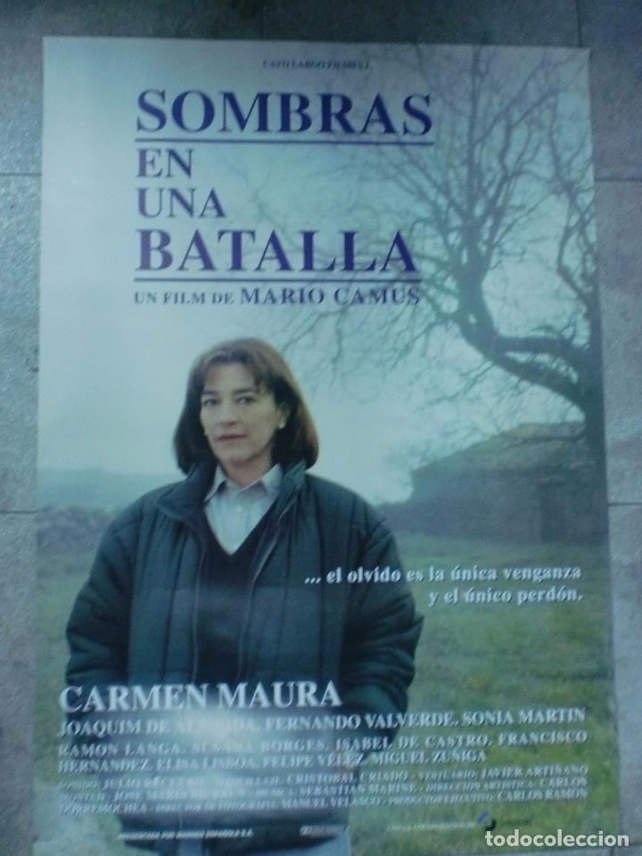CARTEL DE CINE ORIGINAL. SOMBRAS EN UNA BATALLA. 99 X 70 CM. (Cine- Posters y Carteles - Drama)
