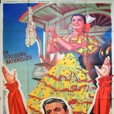Cine: CARTEL CINE GIGANTE! - CARMEN SEVILLA, LUIS MARIANO - LA BELLA DE CADIZ. Lote 76074375