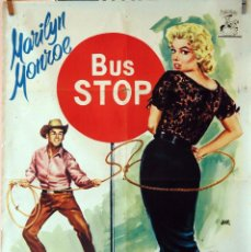 Cine: BUS STOP. MARILYN MONROE. CARTEL ORIGINAL 1958. 70X100. Lote 76104111