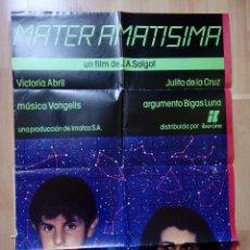 Cine: A- POSTER DE LA PELICULA--MATER AMANTISIMA. Lote 76685419