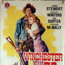 Cine: WINCHESTER 73. JAMES STEWART-SHELLEY WINTERS-ANTHONY MANN. CARTEL ORIGINAL 1964. 70X100. Lote 76696659