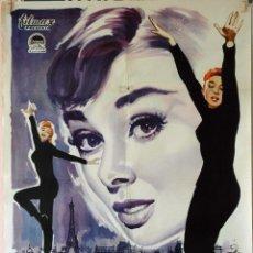 Cine: UNA CARA CON ÁNGEL. AUDREY HEPBURN-FRED ASTAIRE. CARTEL ORIGINAL 1961. 70X100. Lote 76699959