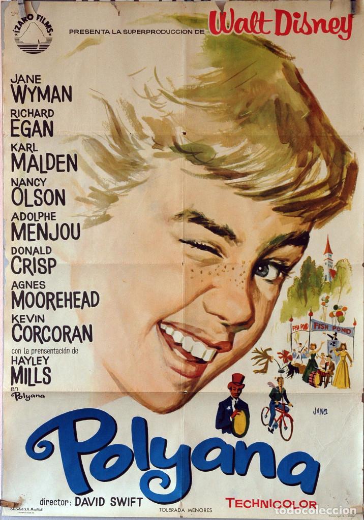 POLYANA. WALT DISNEY-JANE WYMAN-KARL MALDEN. CARTEL ORIGINAL 1961. 70X100 (Cine - Posters y Carteles - Infantil)