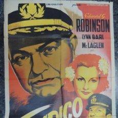 Cine: TAMPICO - POSTER CARTEL ORIGINAL ESTRENO - SOLIGO EDWARD G. ROBINSON VICTOR MCLAGLEN LOTHAR MENDES. Lote 76706311