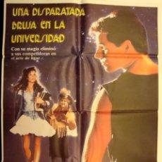 Cine: UNA DISPARATADA BRUJA EN LA UNIVERSIDAD (1989) ROBYN LIVELY, ZELDA RUBINSTEIN CARTEL POSTER. Lote 76890199