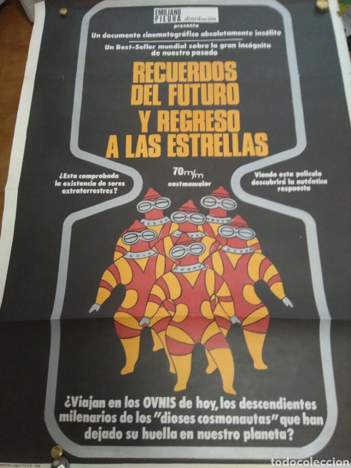 POSTER DE LA PELICULA RECURDOS DEL FUTURO Y REGRESO A LAS ESTRELLAS (Cine - Posters y Carteles - Ciencia Ficción)