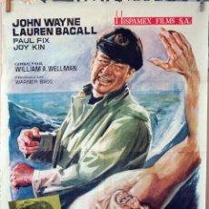 Cine: CALLEJÓN SANGRIENTO. JOHN WAYNE-LAUREN BACALL. CARTEL ORIGINAL 1965. 70X100. Lote 77085721