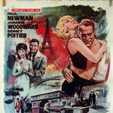 Cine: UN DÍA VOLVERÉ. PAUL NEWMAN-JOANNE WOODWARD. CARTEL ORIGINAL 1964. 70X100. Lote 77086365