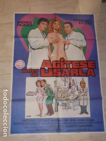 POSTER PELICULA AGITESE ANTES DE USARLA - CARTEL TAMAÑO APROXIMADO 95X65 CM. (Cine - Posters y Carteles - Comedia)