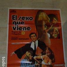 Cine: POSTER PELICULA EL SEXO QUE VIENE - CARTEL TAMAÑO APROXIMADO 95X65 CM.. Lote 77227853
