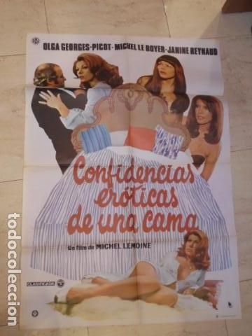 POSTER PELICULA CONFESIONES EROTICAS DE UNA CAMA - CARTEL TAMAÑO APROXIMADO 95X65 CM. (Cine - Posters y Carteles - Comedia)