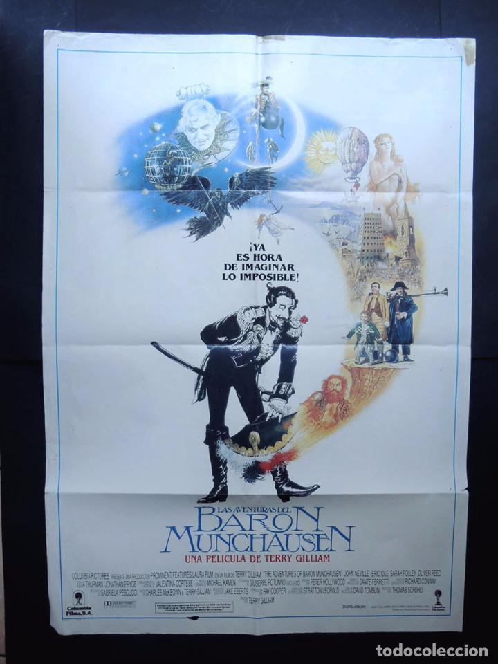 LAS AVENTURAS DEL BARON MUNCHAUSEN / CARTEL ORIGINAL DE CINE ( 100 X 70 ) AÑO 1989 (Cine - Posters y Carteles - Bélicas)