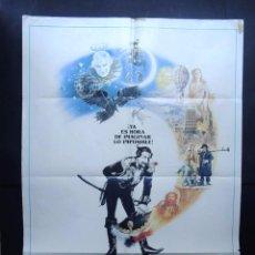 Cinema: LAS AVENTURAS DEL BARON MUNCHAUSEN / CARTEL ORIGINAL DE CINE ( 100 X 70 ) AÑO 1989. Lote 77403533