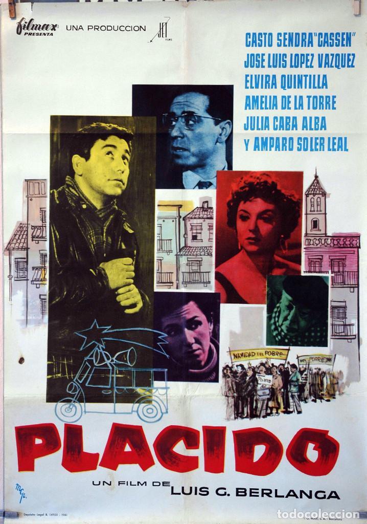 PLÁCIDO. LUIS G. BERLANGA-CASSEN-J.L.LÓPEZ VÁZQUEZ. CARTEL ORIGINAL 1961. 70X100. (Cine - Posters y Carteles - Clasico Español)