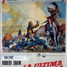 Cine: LA ÚLTIMA AVENTURA. ROBERT SHAW-ROBERT RYAN. CARTEL ORIGINAL 1968. 70X100. Lote 77497569