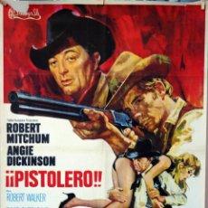Cine: PISTOLERO. ROBERT MITCHUM-ANGIE DICKINSON. CARTEL ORIGINAL 1970. 70X100. Lote 77498321
