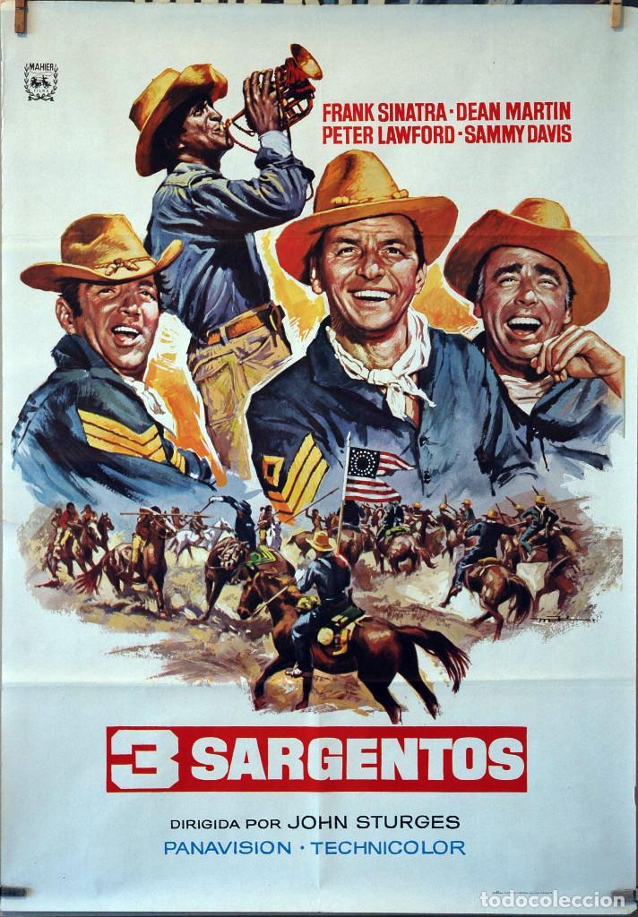 3 SARGENTOS. JOHN STURGES-FRANK SINATRA-DEAN MARTIN. CARTEL ORIGINAL 1978. 70X100 (Cine - Posters y Carteles - Westerns)