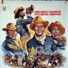 Cine: 3 SARGENTOS. JOHN STURGES-FRANK SINATRA-DEAN MARTIN. CARTEL ORIGINAL 1978. 70X100. Lote 77499013