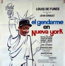 Cine: EL GENDARME EN NUEVA YORK. LOUIS DE FUNES. CARTEL ORIGINAL 1974. 70X100. Lote 77500381